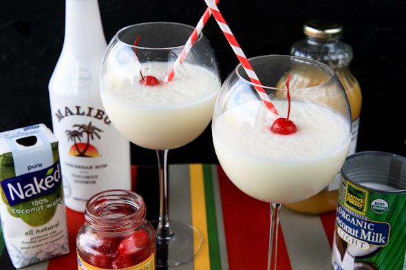 Рецепт пины колады с малибу
